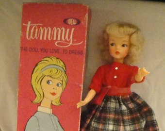 Ideal Tammy Doll in #9133 School Daze Outfit and Original Box and Accessories