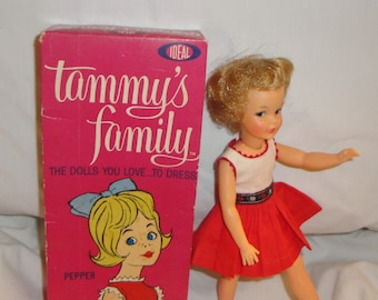 Pepper Ideal Toy Corp. Doll in Tagged Dress and Original Box