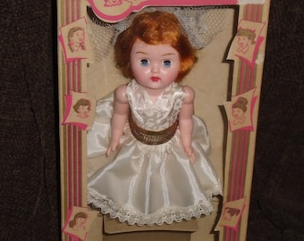 Admiration Doll Co. Vintage 1950's Carol Sue Doll with Box and Original Bridal Outfit-Ginny and Ginger's Friend