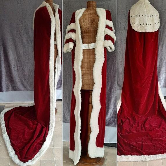 Real Coney Fur Trimmed Dress & Cape Set. Costume,