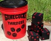 Yard Yahtzee (Farkle, Yardzee, Lawn Dice, Tailgate Party, Yard Games, Lawn Games, Backyard Games, Family Games, Giant Dice, Outdoor Game)