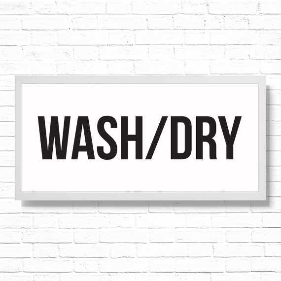 Wash Dry Laundry Room Home Decor Art Print Printable 19 75x9 Farmhouse Style Mudroom Wall Decor Sign Fitted For Ikea Ribba Frame By Prim Popping Catch My Party