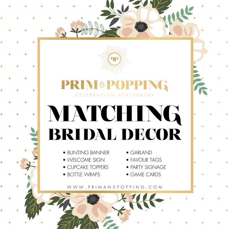 Custom Matching Bridal Decor Printables  Add-on design to image 0