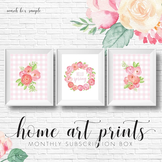 Seasonal Holiday Home Art Print Monthly Subscription Box Monthly
