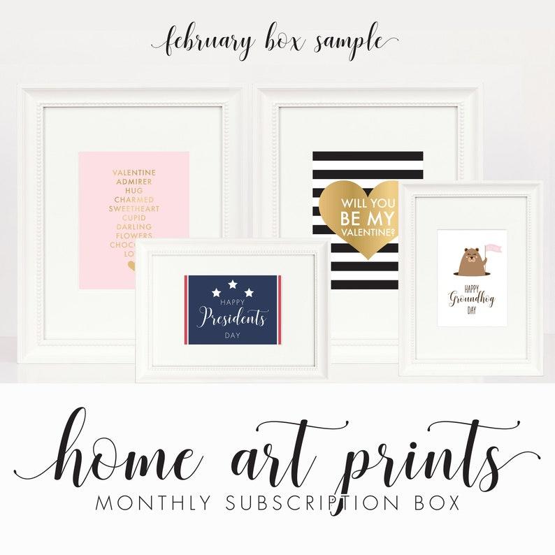 Monthly Printable Holiday Subscription  Printable Seasonal & image 0