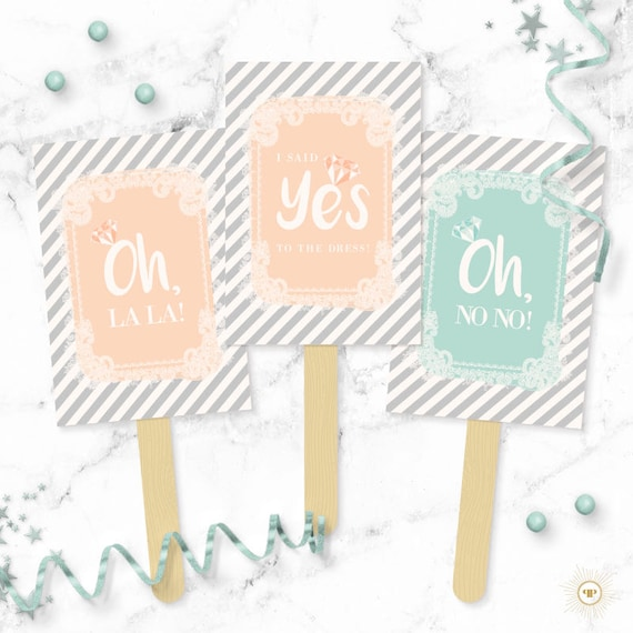 Mint And Peach Stripes Lace Say Yes To The Dress Paddles Wedding