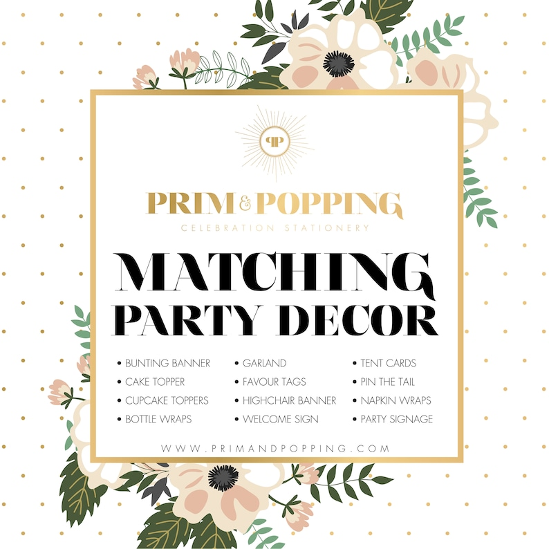 Custom Matching Party Decor Printables  Add-on design to image 0