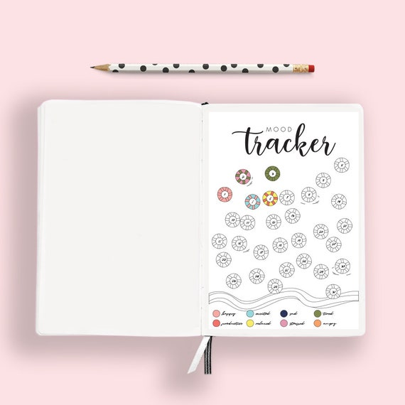 Summer Pool Ring Mood Tracker Printable Habit Tracker For A5 Journal Bujo Mood Tracker Bullet Journal Printable Planner By Prim Popping Catch My Party