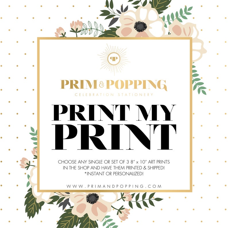 Print My Print  Choose any single Art Print or set of 3 or 6 image 0