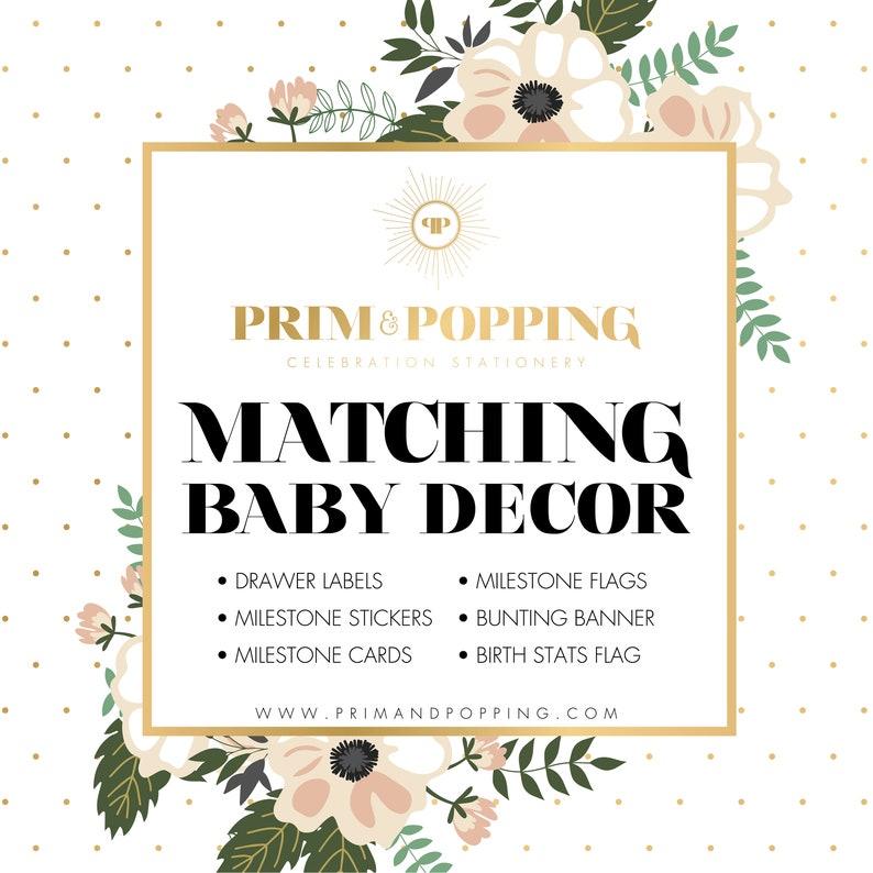 Custom Matching Baby Decor Printables  Add-on design to image 0