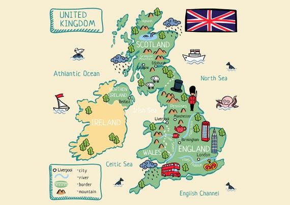 England Kunst Leinwand England Drucken Leinwand Uk Kunstdruck Etsy