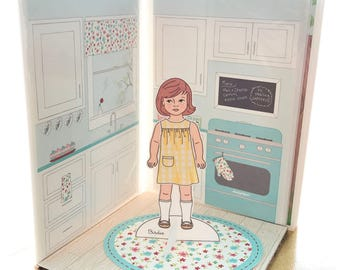 Printable Paper Doll House Backgrounds Set Pdf Instant Etsy