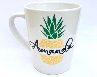 Personalized Pineapple Mug, Pineapple Mug, Pineapple Gift, Pineapple Item, Pineapple Coffee Mug, Pineapple Cup, Pineapple lover, Pineapples