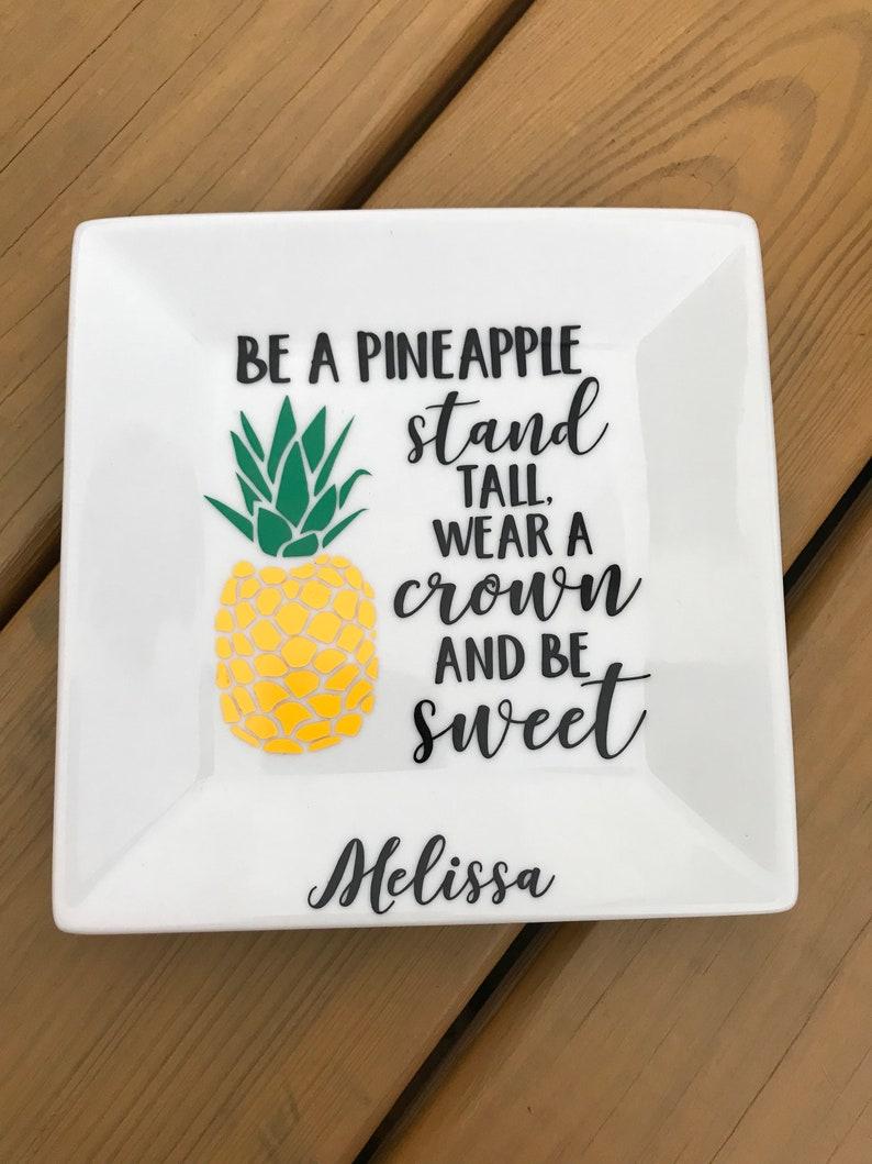 Pineapple item Custom Ring Dish Pineapple Pineapple Ring Dish Trinket Tray Pineapple Gifts Personalized Pineapple Item Pineapple Gift