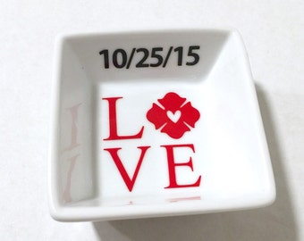 Personalized Proud Firefighter Wife Ring Dish, Firefighter Gift, Fire Wife Gift, Firefighter Wife, Ring Dish, Firefighter Wife Gift