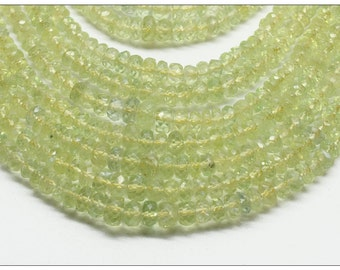 Chrysoberyl 16-Inch Strand of Faceted Rondelle Beads