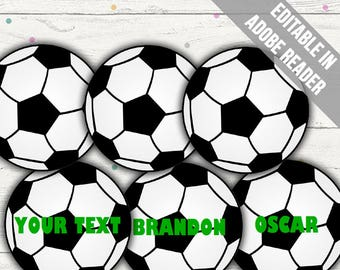 photo regarding Soccer Printable titled Football printable Etsy