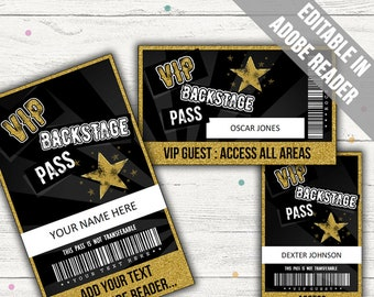 backstage pass etsy
