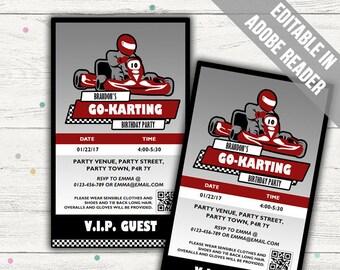 Go Kart Party Etsy