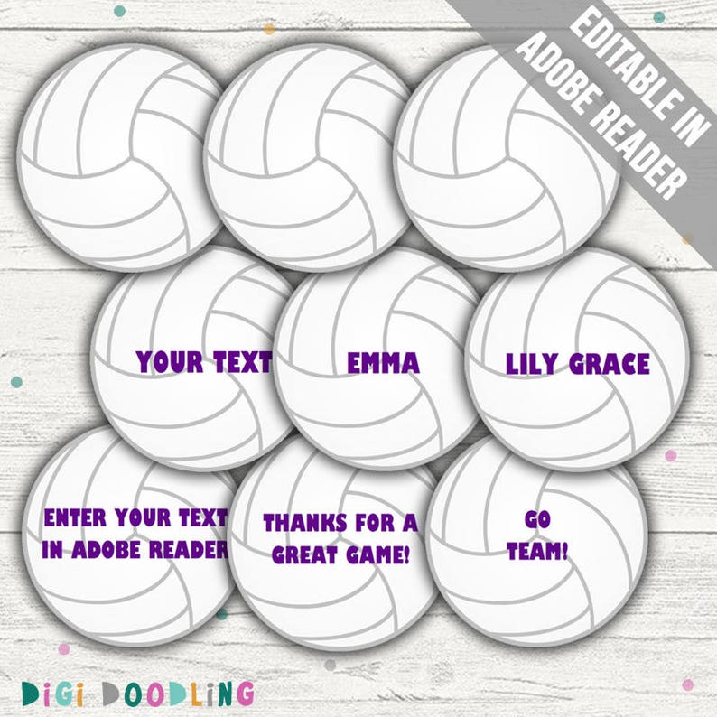 picture relating to Printable Volleyball referred to as Volleyball Tag Printable (Volleyball Reputation Tags/ Bag Tags). Printable PDF (EDITABLE). Fast Down load.