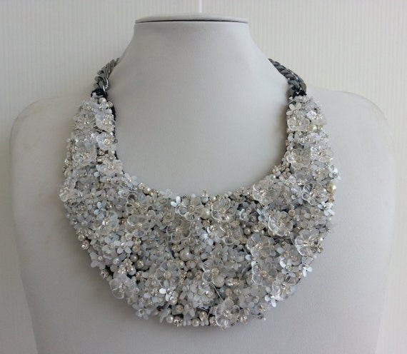 Strass necklace Statement necklace Emily necklace Stunning  71b279515