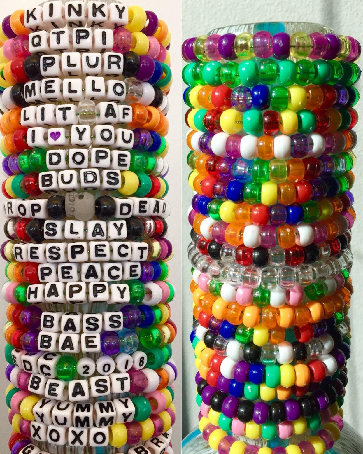 25 Best Images About Kandi On Pinterest: 1 Custom Kandi Bracelet. Pick Colors/phrases. Rave Kandi