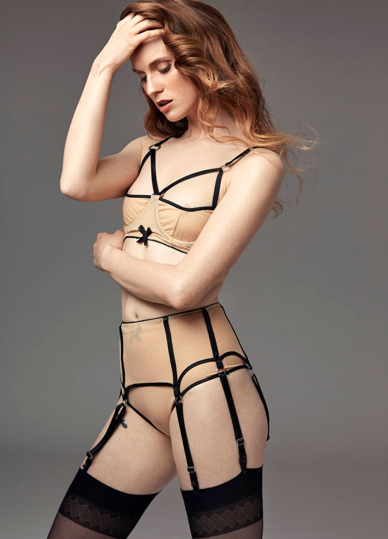 70ad8492b SALE Garter Belt in Light ApricotSuspender belt with