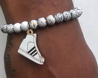 wholesale dealer bda8b f8c28 ADDAS SUPERSTAR HI Handmade Wood Bracelet