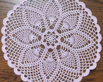 """11.5"""" Pink Pineapple Doily"""