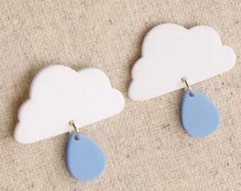 Cloudy rain earrings.