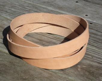 "1"" or 3/4"" Leather Blank Strip Strap, Vachetta Leather Blank Straps, Leather Strap"