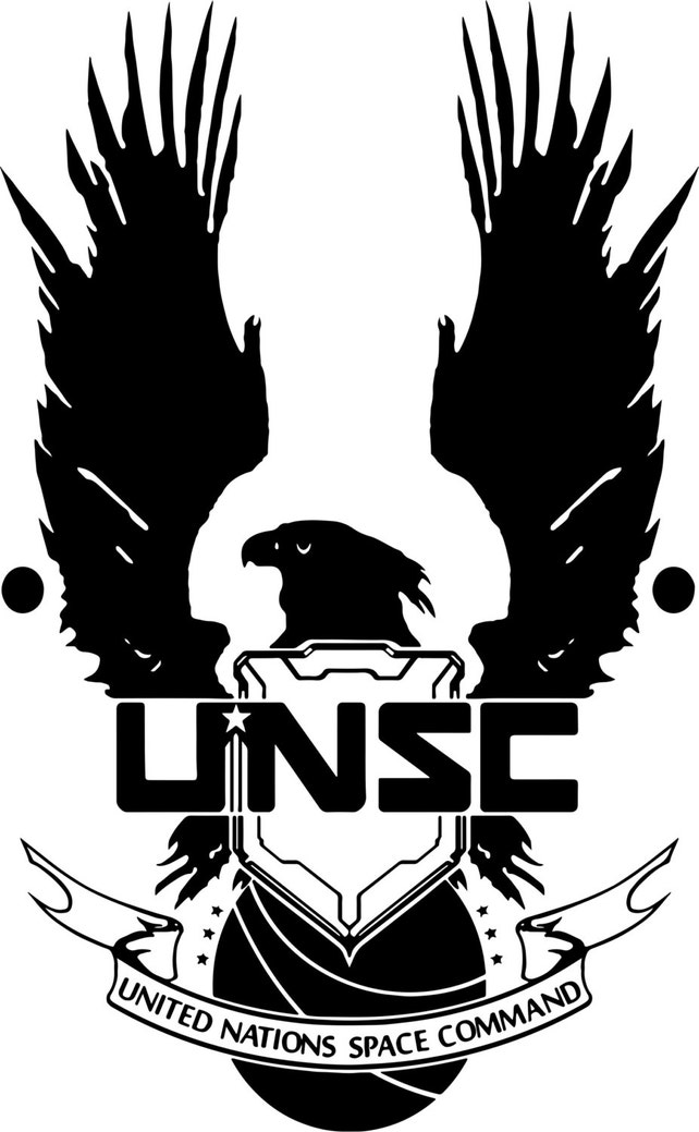 New Halo Unsc Logo Wall Decal Wall Stickers Large 93 Cm X 58 Etsy
