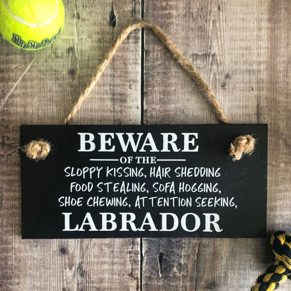 Humorous Beware Of The Bulldog Dog Slate Sign Plaque 3 Sizes Available