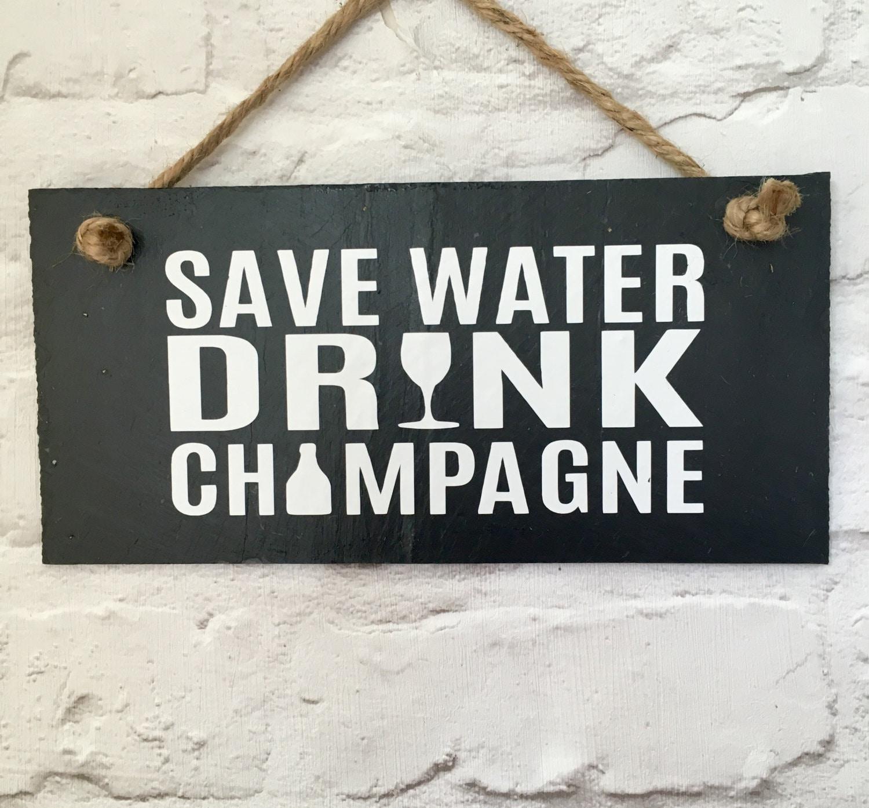 Champagner Zitat. Sparen Sie Wasser trinken Champagner. | Etsy