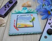 Cross Stitch Pattern - Fishing - Animal Crossing