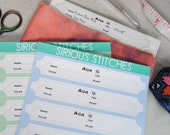 Fabric Label Stickers- LONG - Organize your cross stitch fabric