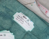 Fabric Labels - Cardstock - Organize your cross stitch fabric