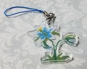 Acrylic Charm - Silent Princess Cross Stitch