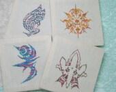 PATTERN BUNDLE - Final Fantasy Crystal Chronicles Crest Pack