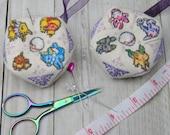 Cross Stitch Pattern - Eevee Biscornu / Pincushion / Ornament - Pokemon
