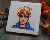 Cross Stitch Pattern - Sam Portrait - Stardew Valley