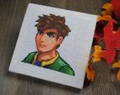 Cross Stitch Pattern - Alex Portrait - Stardew Valley