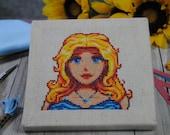 Cross Stitch Pattern - Haley Portrait - Stardew Valley