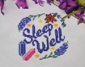 Cross Stitch Pattern - Sleep Well