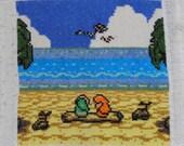 Cross Stitch Pattern - Zelda: Link's Awakening - Ending Cutscene
