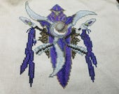 Cross Stitch Pattern - Night Elf Crest - World of Warcraft