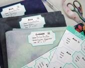 Fabric Label Stickers - Organize your cross stitch fabric