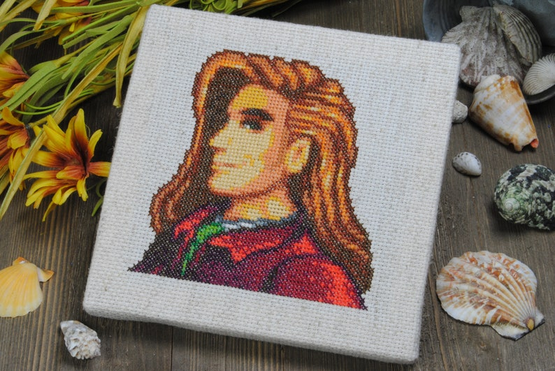 Cross Stitch Pattern - Elliott Portrait - Stardew Valley