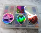"""Cross Stich RPG Guild 3"""" Holographic Stickers"""