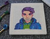 Cross Stitch Pattern - Shane Portrait - Stardew Valley